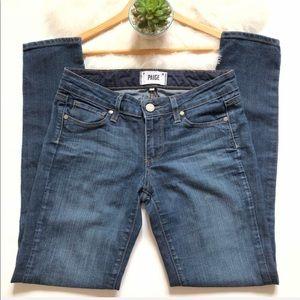 Paige PEG SKINNY Medium Wash Jeans 25